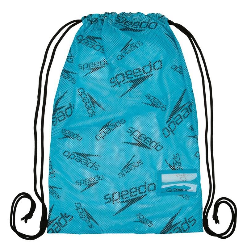 PRINTED MESH BAG AU BLUE/BLACK TORBA